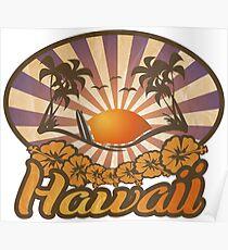 Hawaii Paradise Surf Beach Poster