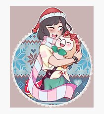 Pokemon sun and moon xmas!  Photographic Print