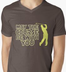 May the Course be with You Funny Golf T Shirt Men's V-Neck T-Shirt