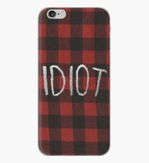 IDIOT (roter Flannel) iPhone-Hülle & Cover