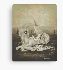 Willow and Wren Unicorn painting Canvas Print