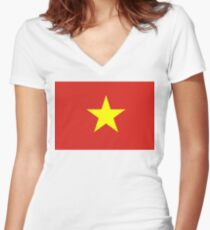 Vietnam Women's Fitted V-Neck T-Shirt