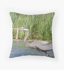 Great Blue Heron (Paddling' Pictures) Throw Pillow