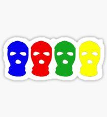 Multi-colored Ski Mask Sticker