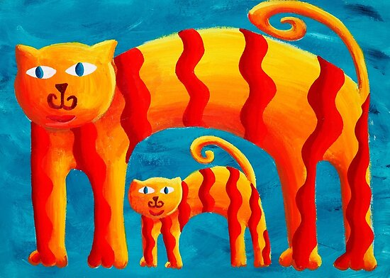 Curved Cats by Julie Nicholls