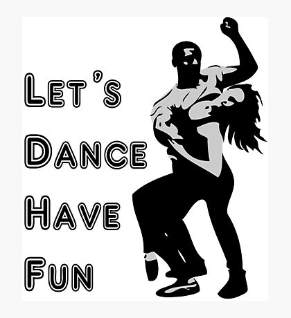 let's dance have fun - dancing couple Photographic Print