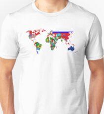 World Flags Map Unisex T-Shirt