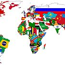 World Flags Map by WorldFlagCo
