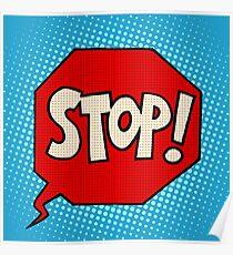 stop sign warning symbol Poster