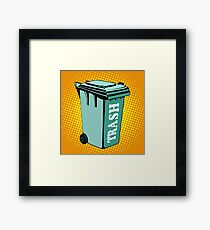 Trash ecology recycling tank Framed Print