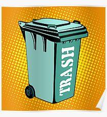 Trash ecology recycling tank Poster