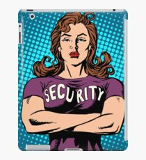 woman security guard iPad Case/Skin