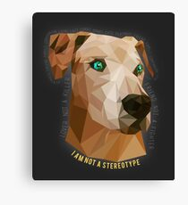 Pit Bulls - Not A Stereotype  Canvas Print