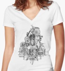 Attraction Women's Fitted V-Neck T-Shirt