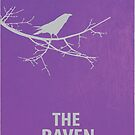The Raven Minimalist Poster by canossagraphics
