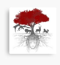 Three-eyed raven tree Canvas Print
