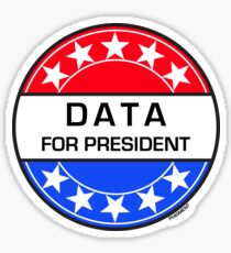 DATA FOR PRESIDENT Sticker