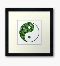 Ying and Yang dope Framed Print