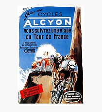 TOUR DE FRANCE; Vintage Alcyon Bike Racing Print Photographic Print