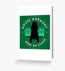 Mormont Greeting Card