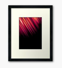 Just a Touch; Abstract Digital Vector Art Framed Print