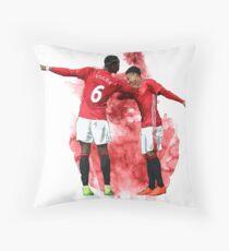 Pogba and Lingard Art - Dab Throw Pillow
