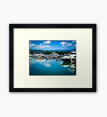 Calm Marina Water Framed Print