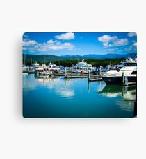 Calm Marina Water Canvas Print