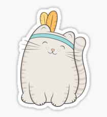 fin, the cat Sticker