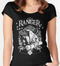 RPG Class Series: Ranger - White Version Women's Fitted Scoop T-Shirt