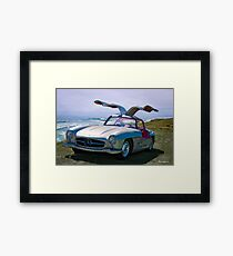 1955 Mercedes-Benz 300SL Gullwing Replica Framed Print