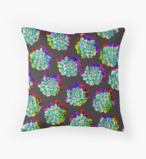 Glitched Succulents Throw Pillow