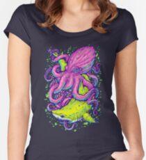 shark vs kraken Women's Fitted Scoop T-Shirt