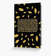 """The world ain't... """"Rocky Balboa"""" Inspirational Quote (Creative) Greeting Card"""