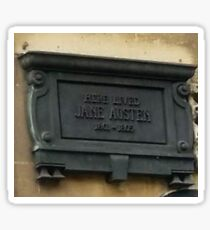 Here lived Jane Austen Sticker