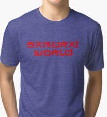Westworld Samurai World Red Big Tri-blend T-Shirt