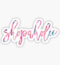 shopaholic, acrylic paint tie dye Sticker