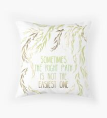 Grandmother Willow's Words Throw Pillow