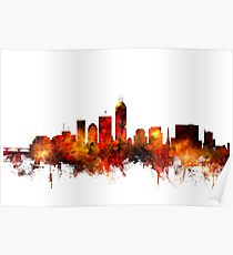 Indianapolis Indiana Skyline Poster