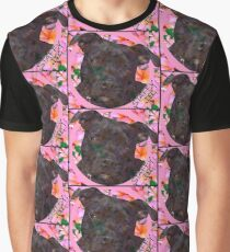 Staffy Dog Goes Floral! Graphic T-Shirt