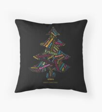 Merry Christmas - African Languages Throw Pillow