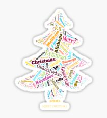 Merry Christmas - African Languages Sticker