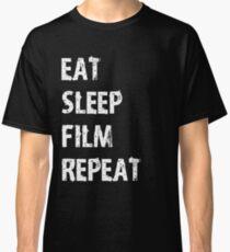 Eat Sleep Film Repeat T Shirt Edit Student Maker Editor You Video Tube Vlog Vlogger Classic T-Shirt