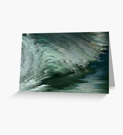 Green waves Greeting Card