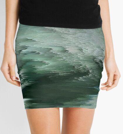 Green waves Mini Skirt