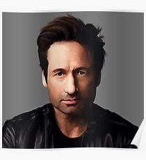 Portrait of David Duchovny Poster