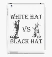 White Hat vs Black Hat iPad Case/Skin
