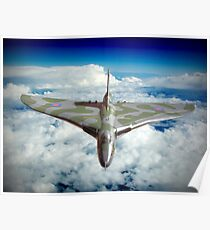 Vulcan XH558 In The Sky !! Poster