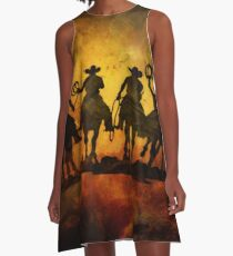 Wild West Cowboys A-Line Dress