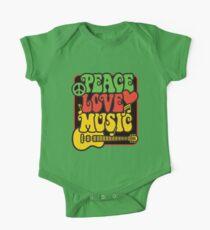 Rasta Frieden, Liebe, Musik Baby Body Kurzarm